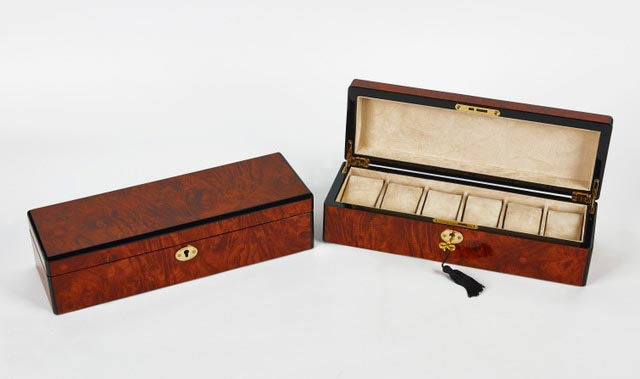 Dark Brown Wooden Watch Box
