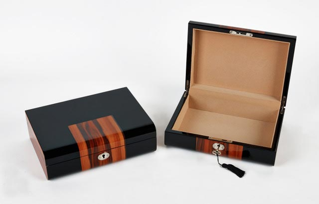Black and Brown Wooden Jewelry Box