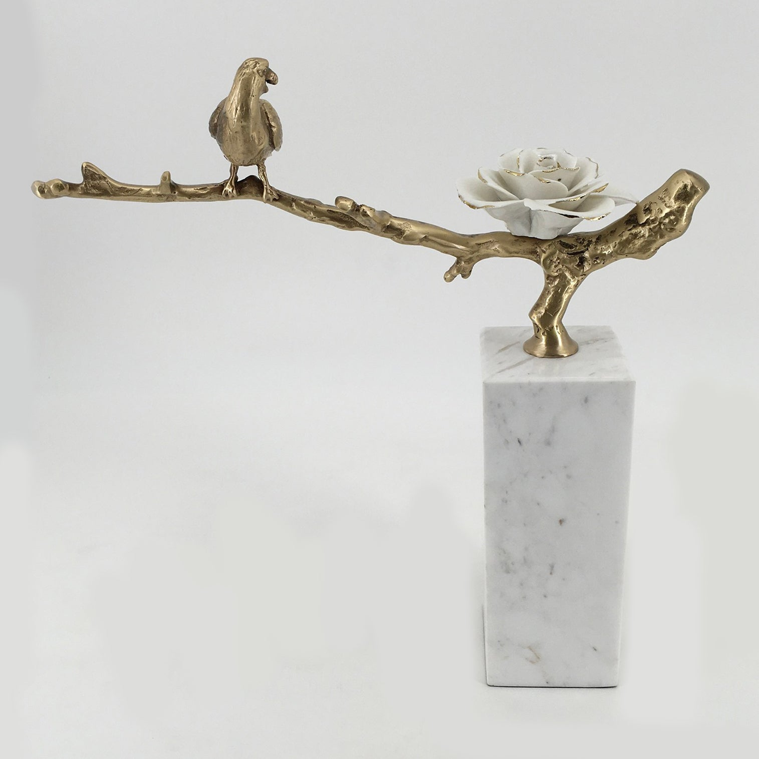 WHITE MARBLE/ COPPER TROPHY