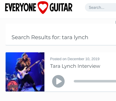 EVERYONE LOVES GUITAR - LIVE INTERVIEW WITH TARA LYNCH