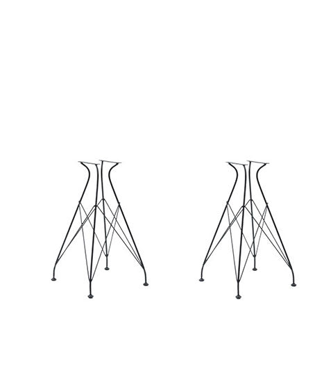 four-point wire frame table base