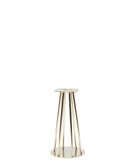 Chrome finish slim cone-shaped wire frame pedestal base