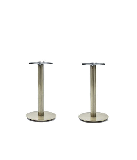 Chrome finish pipe style double pedestal base