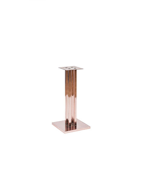 Chrome finish square pedestal base