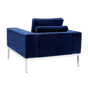 Adder Armchair - Giotto Navy Fabric