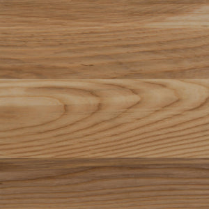 Swatch of natural coloured Ash wood for table tops.