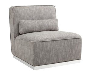 Caledon Swivel Chair - Hannigan Fog Fabric