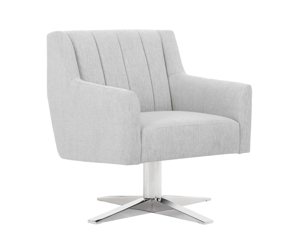 Central Park Swivel Chair - Hemingway Marble Fabric
