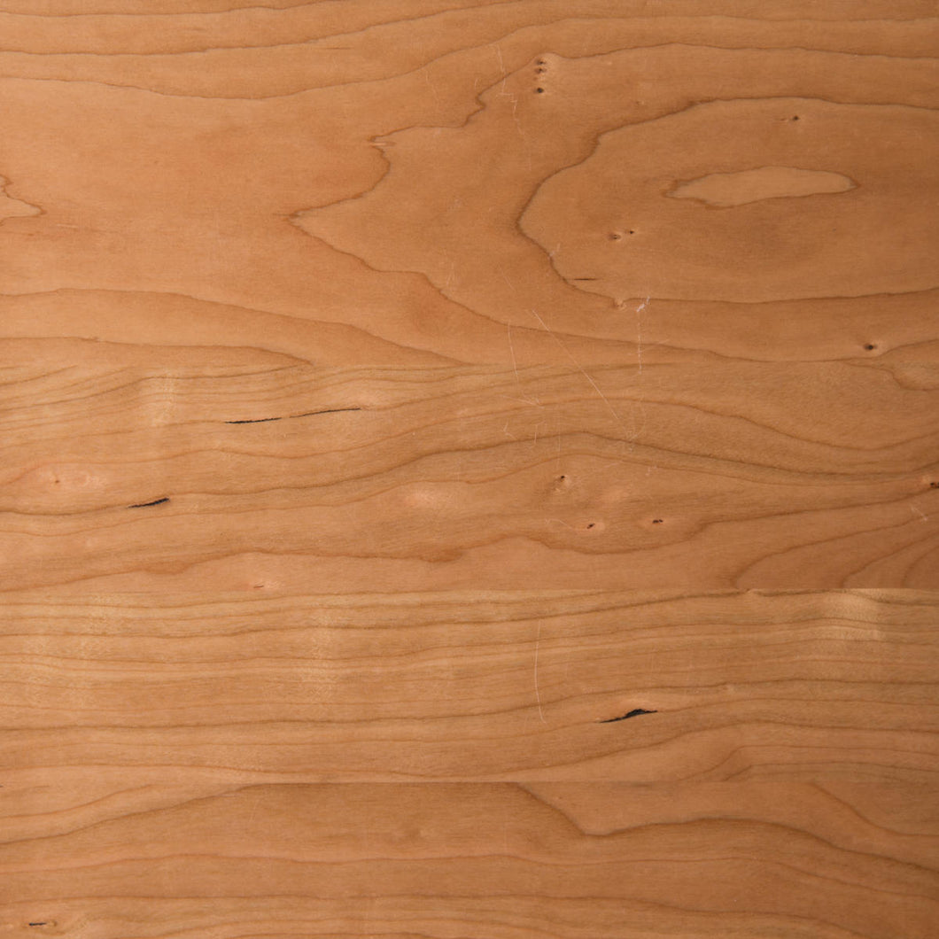 Swatch of natural coloured Cherry wood for table tops.