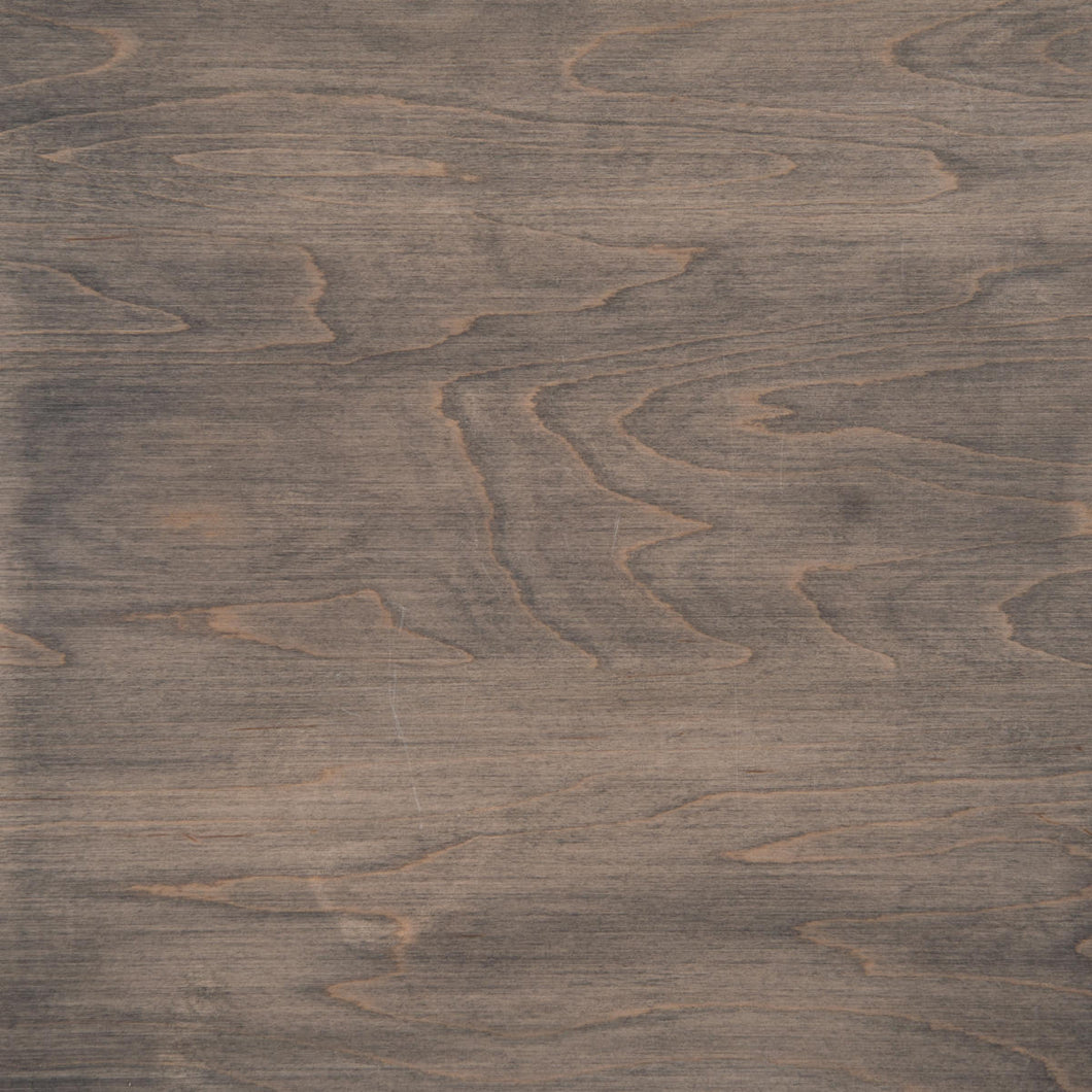 Swatch of Clear Maple wood with a slate stain for table tops.