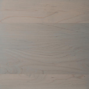 Swatch of Clear Maple wood with a white stain for table tops.