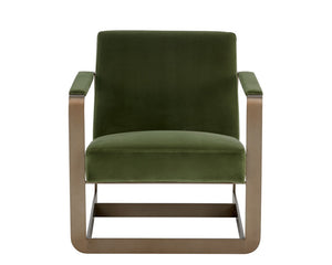 Cleveland Armchair - Antique Brass - Giotto Olive Fabric