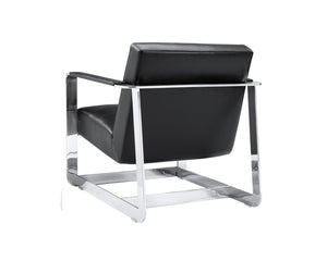 Cleveland Armchair - Black Leather