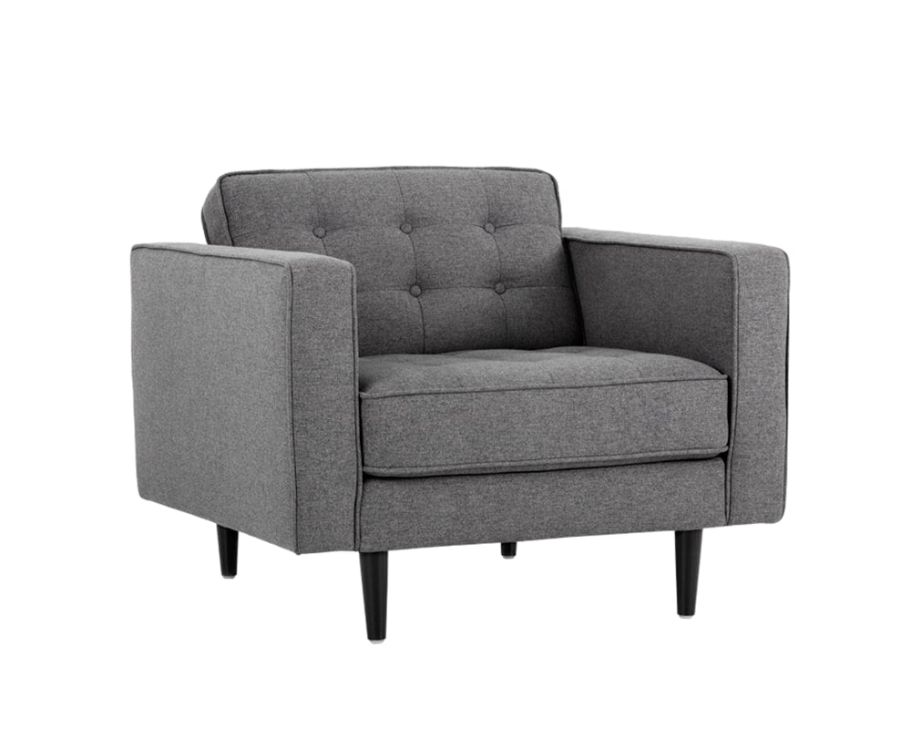 Donnie Armchair - Dark Grey Fabric