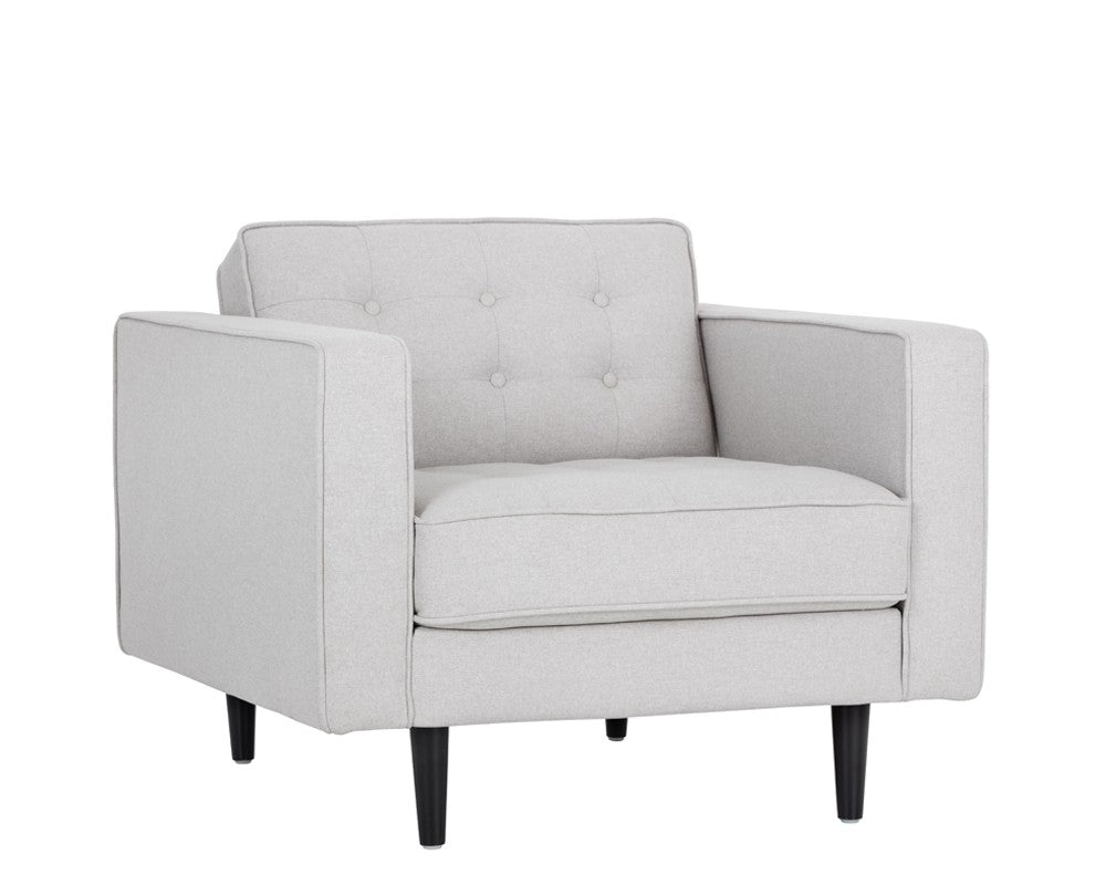 Donnie Armchair - Light Grey Fabric