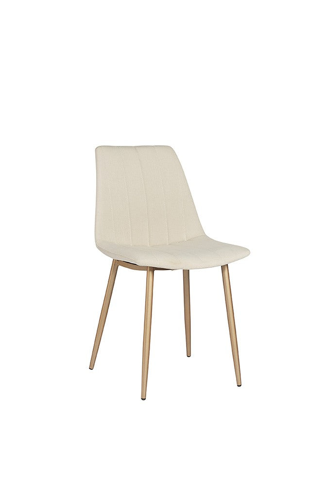 Drew Dining Chair - Gold - Antonio Linen Fabric