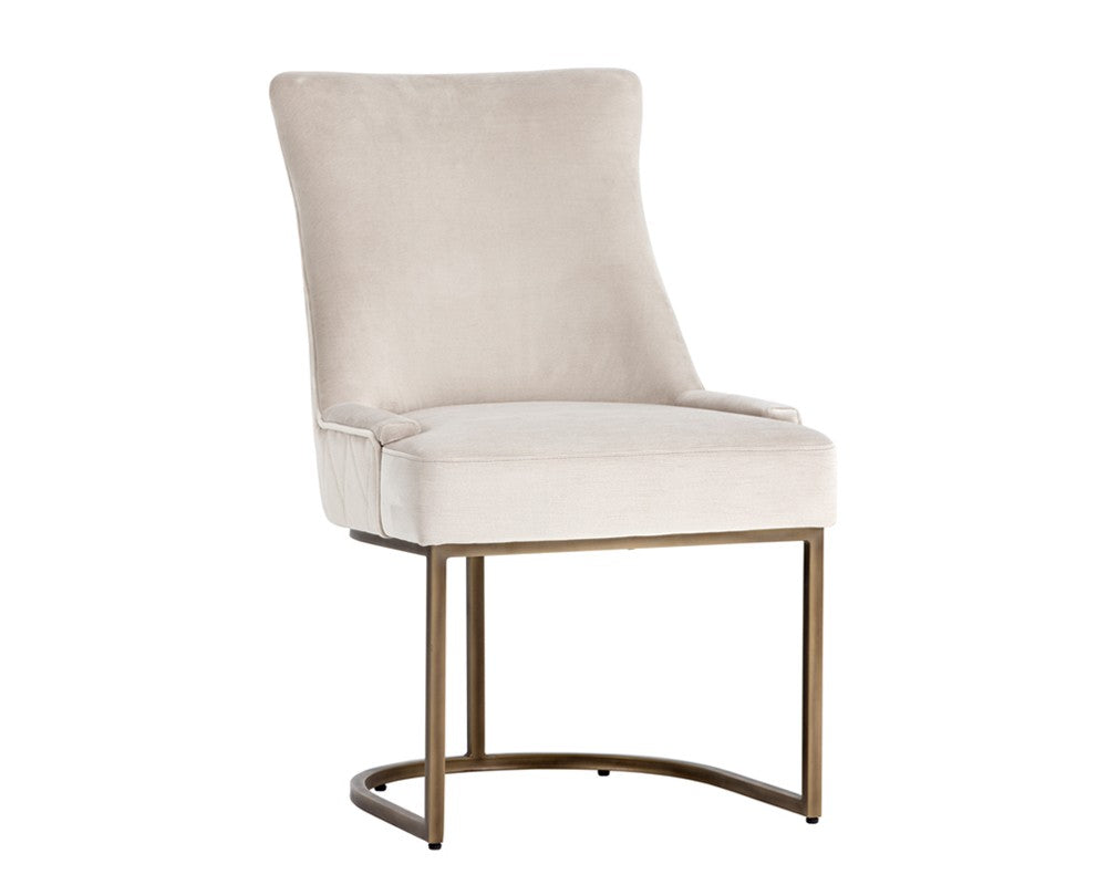 Florence Dining Chair - Rustic Bronze - Pimlico Prosecco Fabric