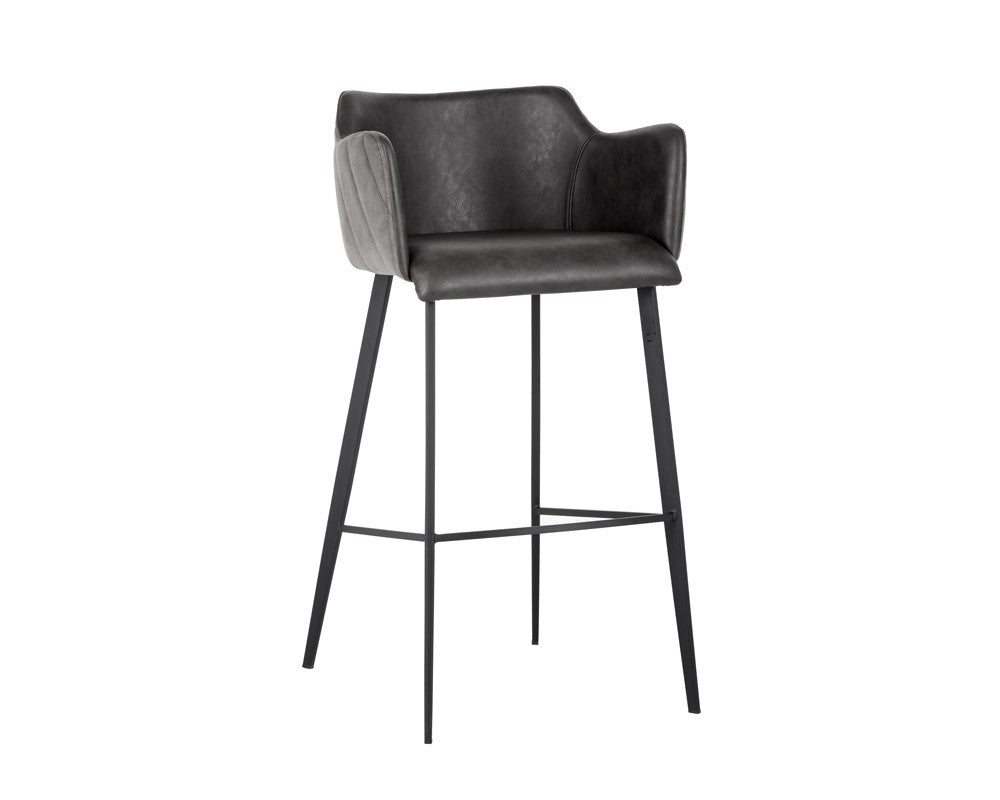 Griffin Barstool - Roman Grey Fabric