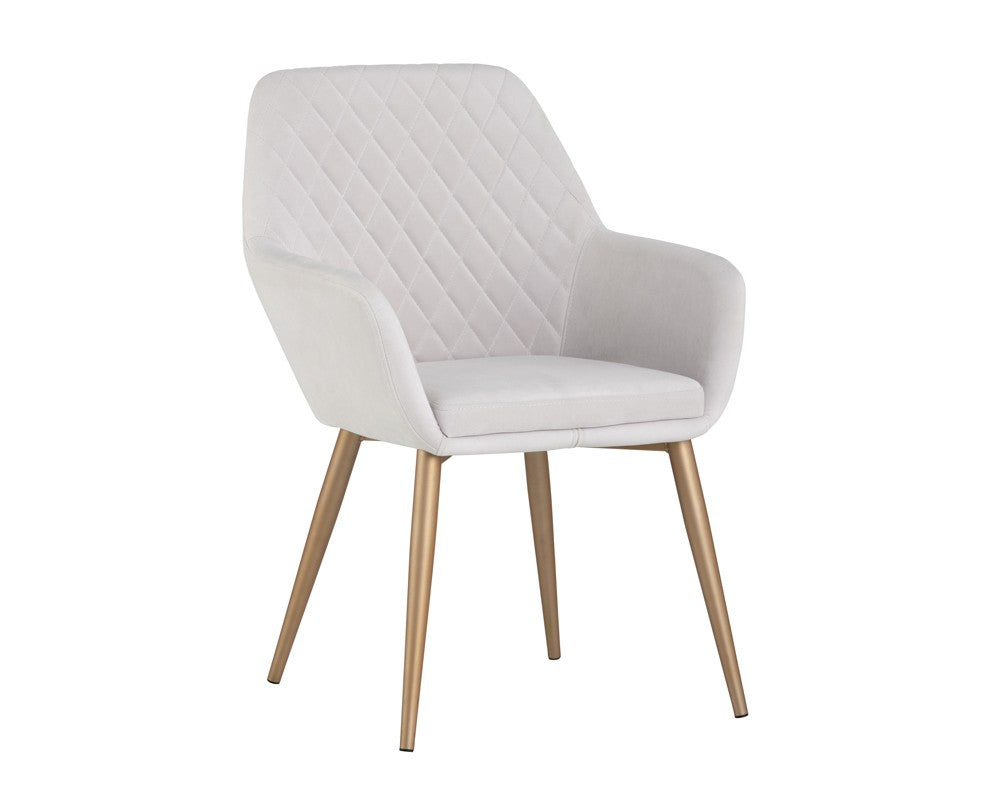 Jayna Dining Chair - Gold - Antonio Linen Fabric