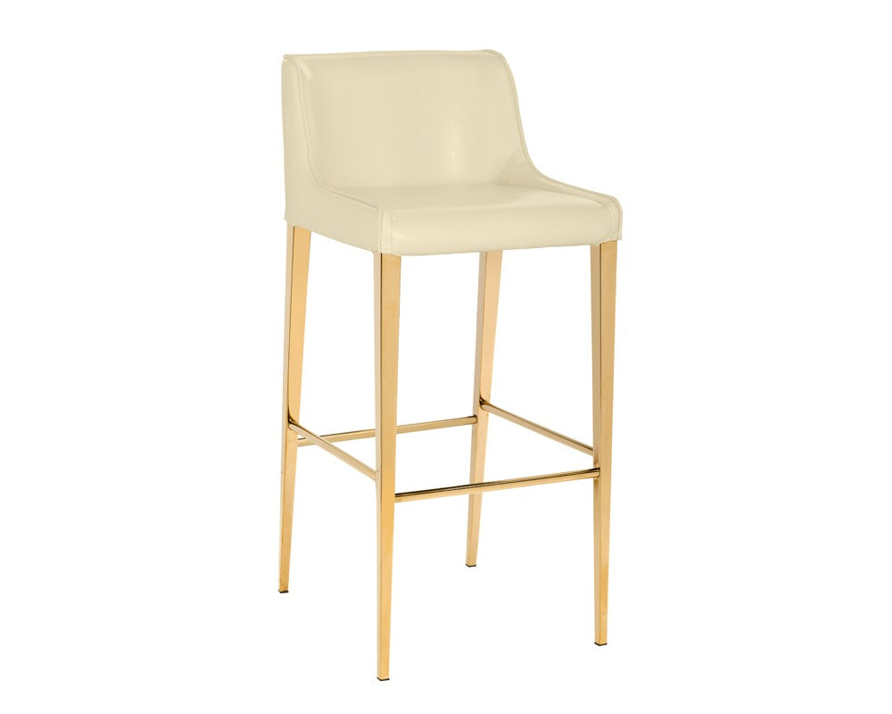 Lawrence Barstool - Yellow Gold - Almond