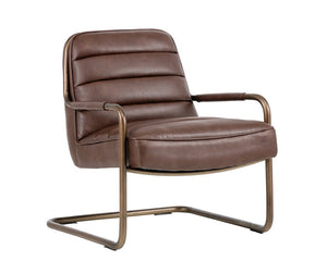 Lincoln Lounge Chair - Rustic Bronze - Vintage Cognac