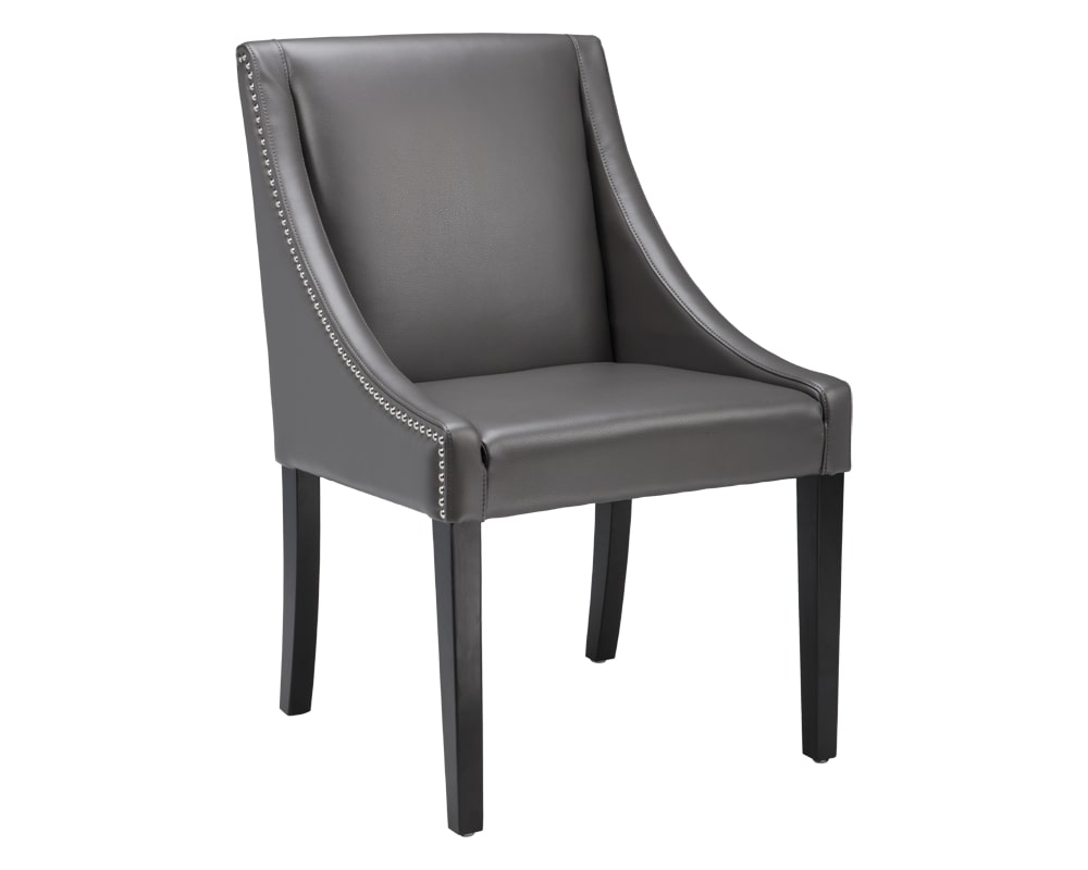 Lucille Dining Chair - Grey Leather