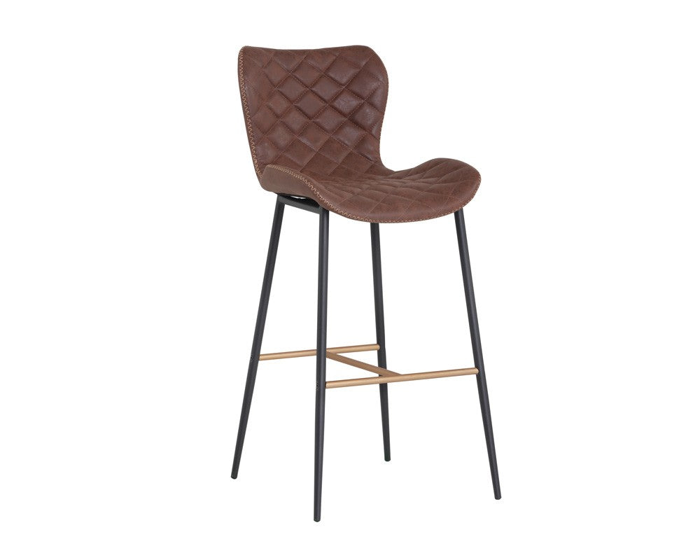 Lyla Barstool - Champagne Gold - Antique Brown