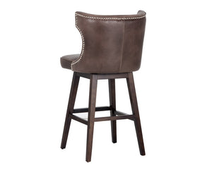 Neville Swivel Barstool - Havana Dark Brown
