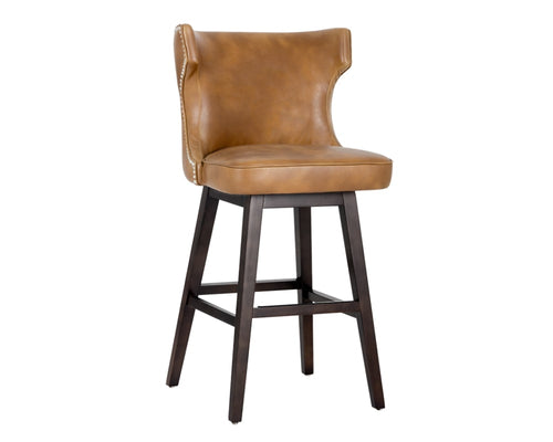 Neville Swivel Barstool - Tobacco Tan