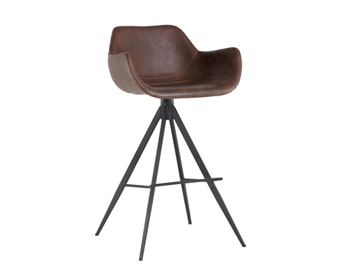Owen Swivel Barstool - Hearthstone Brown