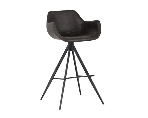 Owen Swivel Barstool - Town Grey