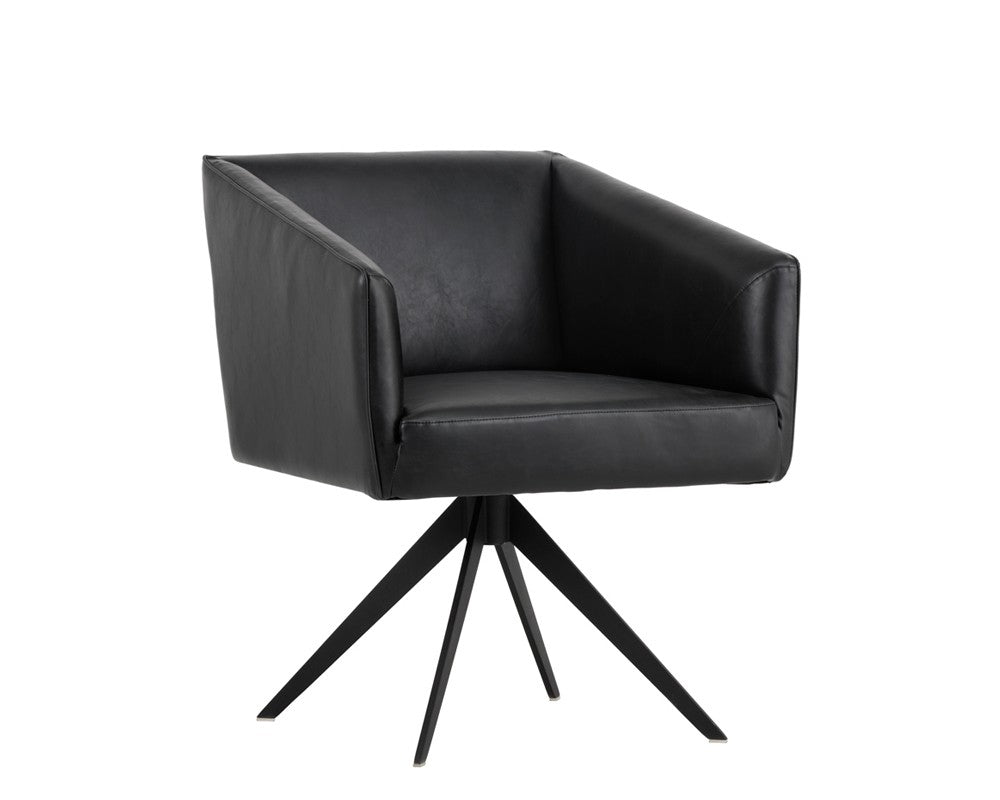 Phoenix Swivel Dining Chair - Coal Black