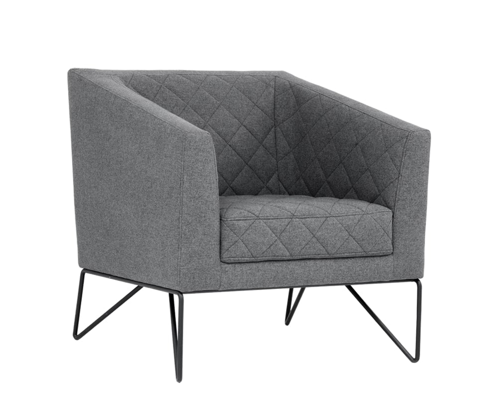 Princeton Occasional Chair - Dark Grey Fabric