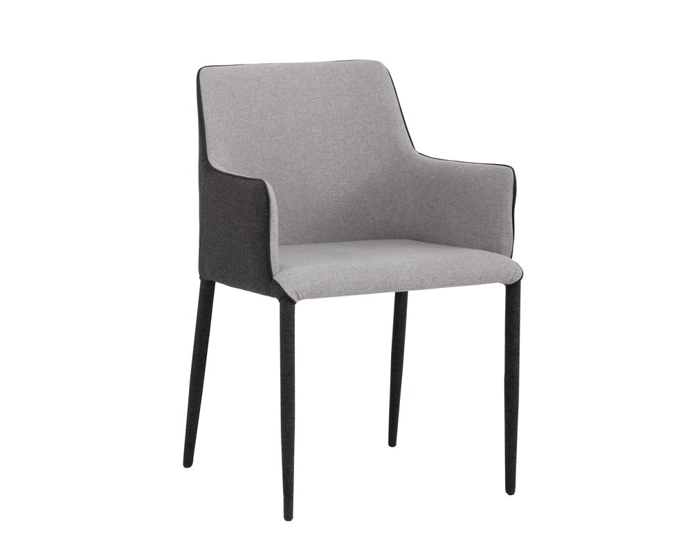 Renee Armchair - Dark Slate Fabric - Armour Grey Fabric