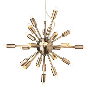 Sputnik Pendant - Antique Brass