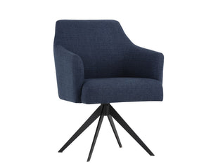 Sydney Swivel Chair - Midnight Blue