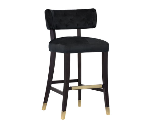Tatum Barstool - Piccolo Black Fabric