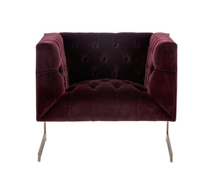 Viper Armchair - Antique Brass - Giotto Cabernet Fabric