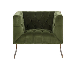 Viper Armchair - Antique Brass - Giotto Olive Fabric