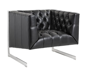 Viper Armchair - Black Leather