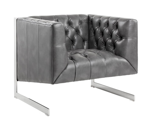 Viper Armchair - Grey Leather