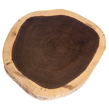 Sample of a natural coloured Walnut 'cookie' for table tops. Top view.