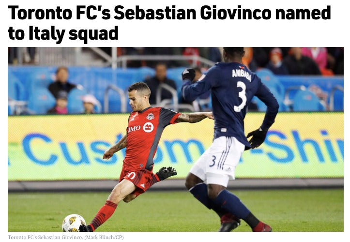 Sebastian Giovinco named to Italy squad