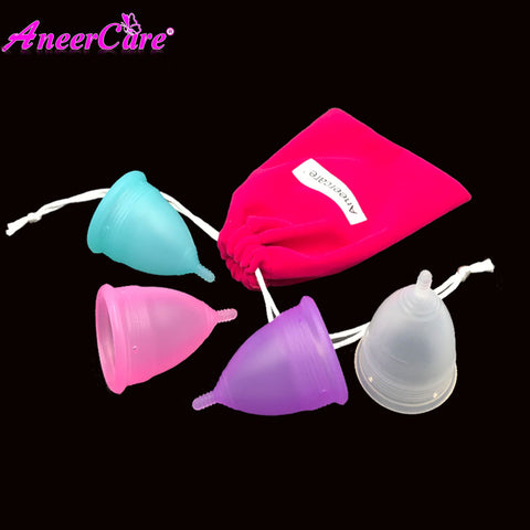 100% Medical Grade Silicone Menstrual Cup with Storage Bag by Aneercare