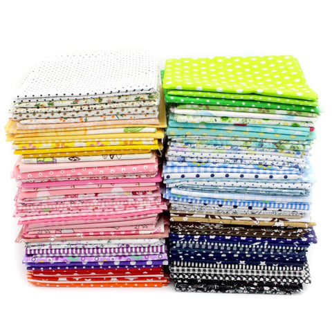 "Cotton Fabric Squares (25cmx25cm or 9.84""x9.84"")"