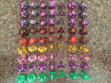 Free Giveaway!  7pcs/Set TRPG Game Dungeons & Dragons Polyhedral D4-D20 Multi Sided Acrylic Dice