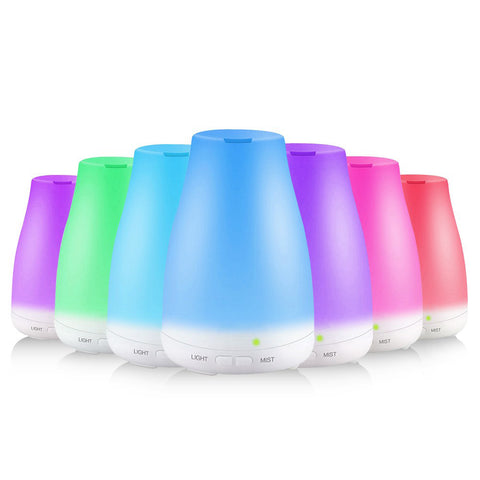 7-Color LED Light Essential Oil Diffuser