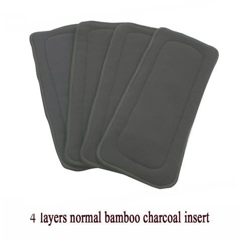 1pc  4 Layer Bamboo Charcoal Cloth Diapers Inserts