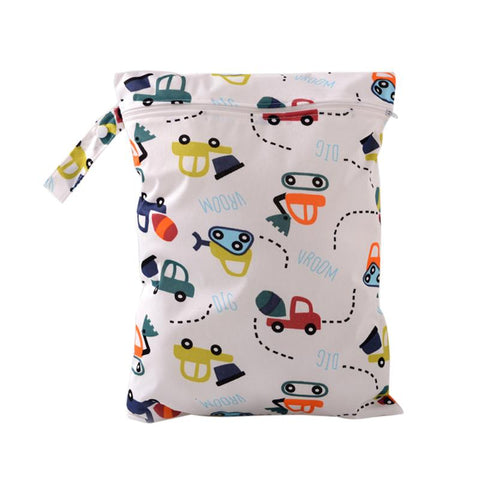 Character Print Waterproof Wet Bag for Cloth Diapers