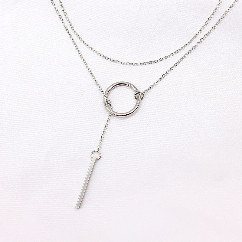 Silver Pendant and Chain Necklace